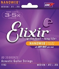 Elixir Nanoweb strings for acoustic guitar