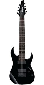 Ibanez RG8 - BK, 8-string electric guitar, right-handed, black, no body