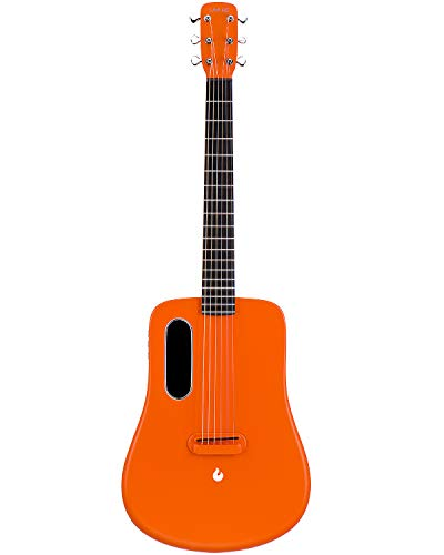 LAVA ME 2 Acoustic Electric Guitar, 36 Carbon Fibre Guitar, Beginners Guitar, Travel Guitar, Package with Perfect Pocket and Perfect Choice (Friboust-Orange)