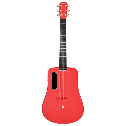 LAVA ME 2 Acoustic Electric Guitar, 36 Carbon Fibre Guitar, Beginners Guitar, Travel Guitar, Package with Perfect Pocket and Perfect Choice (Freeboost Red)