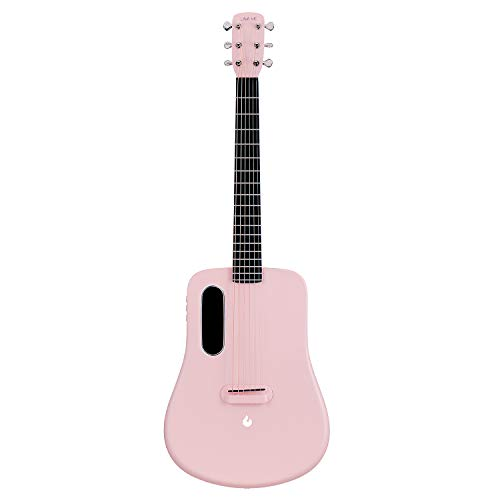 LAVA ME 2 Acoustic Electric Guitar, 36 Carbon Fibre Guitar, Beginners Guitar, Travel Guitar, Package with Perfect Pocket and Perfect Choice (Freebust Pink)