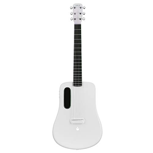 LAVA ME 2 Electric acoustic guitar, 36 carbon fibre guitar, beginner guitar, travel guitar, package with perfect bag and perfect selection (Freebust White)