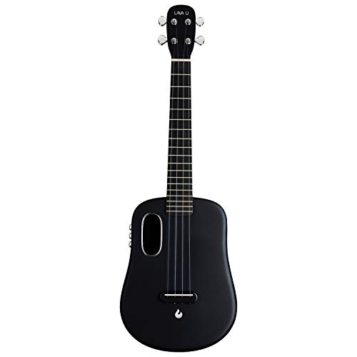 LAVA U, carbon fiber ukulele, 26 inch, playing with effects without connection, acoustic electric ukulele from LAVA MUSIC (FreeBoost, glossy black, 26 inch)