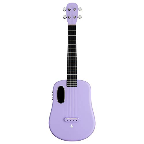 LAVA U, carbon fiber ukulele, 26 inch, playing with effects without connection, acoustical-electric ukulele from LAVA MUSIC (FreeBoost, light purple, 26 inch)