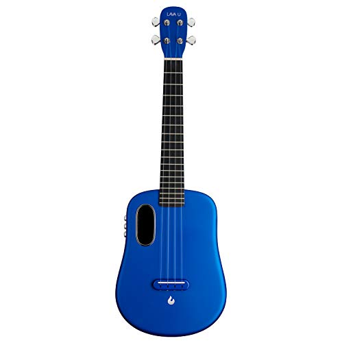 LAVA U, carbon fiber ukulele, 26 inch, playing with effects without connection, acoustic-electric ukulele from LAVA MUSIC (FreeBoost, light blue, 26 inch)