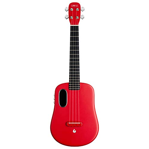 LAVA U, carbon fiber ukulele, 26 inch, playing with effects without connection, acoustically-electric ukulele from LAVA MUSIC (FreeBoost, sparkling red, 26 inch)