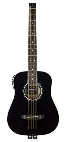 Travel Guitar AG-200EQ Acoustic Electric Guitar, Black